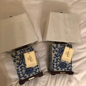 Set of 2 brand new Ralph Lauren lamps